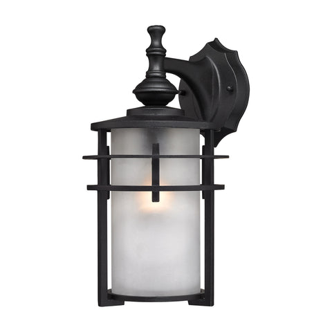 Meadowview 1 Light Outdoor Sconce In Matte Black