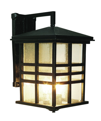 "4637 BK Craftsman 16"" Outdoor Wall Light in Black"