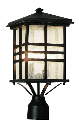 "4639 BK Craftsman 16"" Post Top Lantern in Black"
