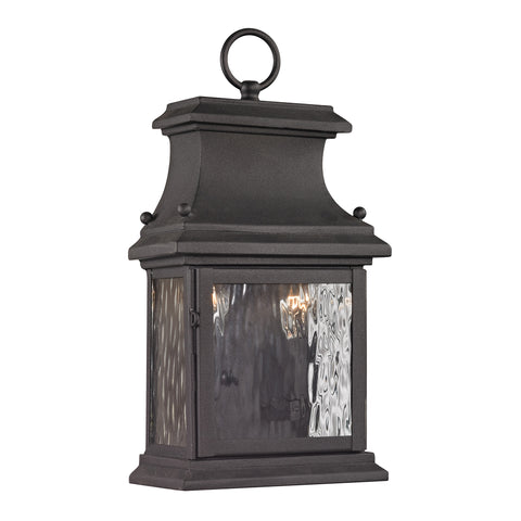 47050/2 Forged Provincial 2 Light Outdoor Sconce