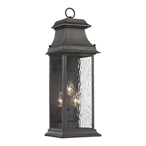 47051/3 Forged Provincial 3 light Outdoor Sconce