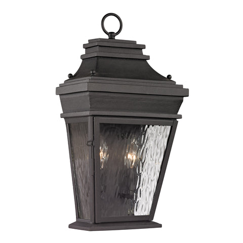 47052/2 Forged Provincial Collection 2 Light Outdoor Sconce