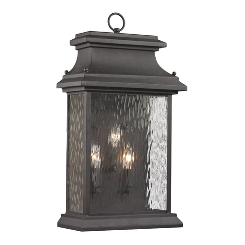 47054/3 Forged Provincial Collection 3 Light Outdoor Sconce
