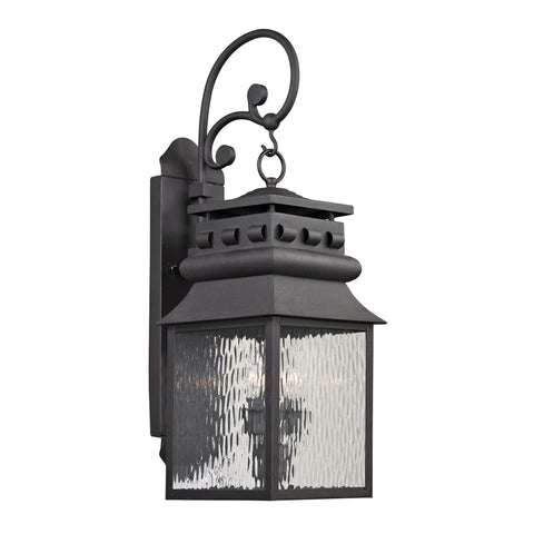 47063/2 Forged Lancaster Collection 2 Light Outdoor Sconce