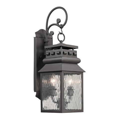 47065/2 Forged Lancaster Collection 2 Light Outdoor Sconce