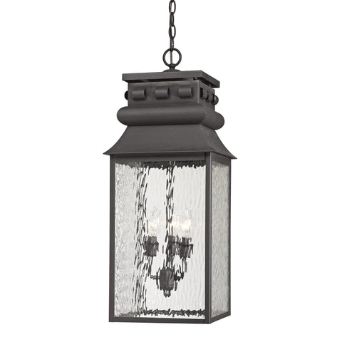 47066/3 Forged Lancaster Collection 3 Light Outdoor Pendant