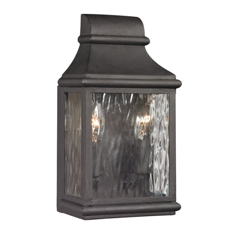 47070/2 Forged Jefferson Collection 2 Light Outdoor Sconce