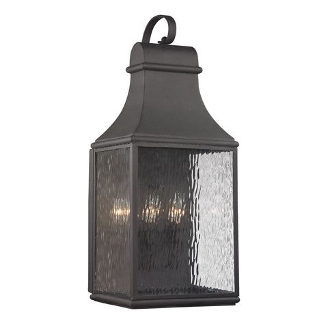 47073/3 Forged Jefferson Collection 3 Light Outdoor Sconce