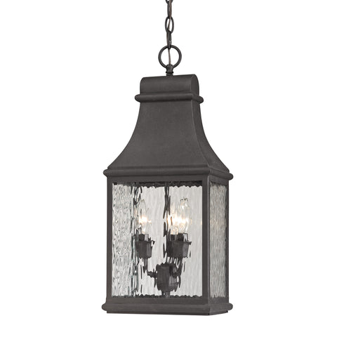 47074/3 Forged Jefferson 3 light Outdoor Pendant