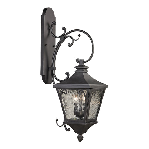 47082/2 Forged Camden Collection 2 Light Outdoor Sconce