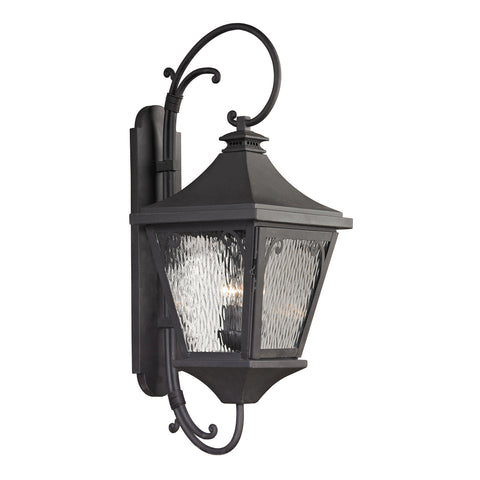 47090/3 Forged Manor Collection 3 Light Outdoor Sconce
