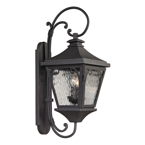 47091/2 Forged Manor Collection 2 Light Outdoor Sconce