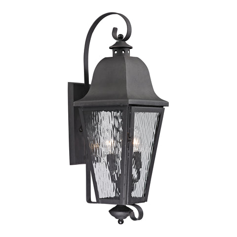 47102/3 Forged Brookridge Collection 3 Light Outdoor Sconce