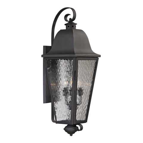 47103/4 Forged Brookridge Collection 4 Light Outdoor Sconce