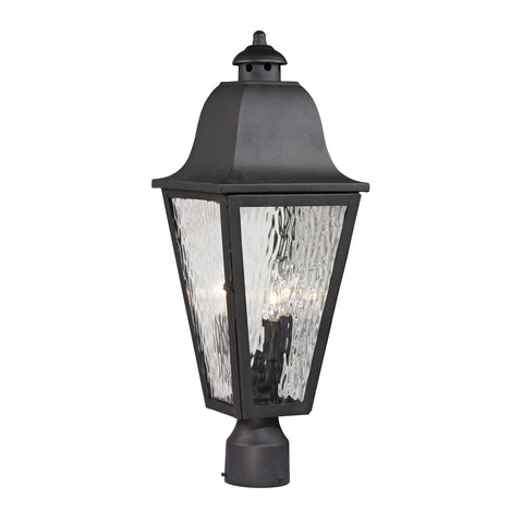 47105/3 Forged Brookridge 3 Light Outdoor Post Light