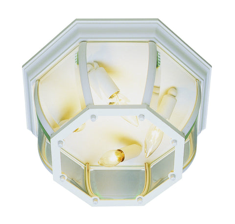"4907 WH Beveled 13"" Outdoor Ceiling Light"