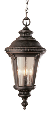 "5049 RT 17"" high Hanging Lamp Rust Finish"
