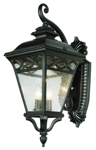 "50512 BK Braided 28"" Coach Lantern Black Finish"