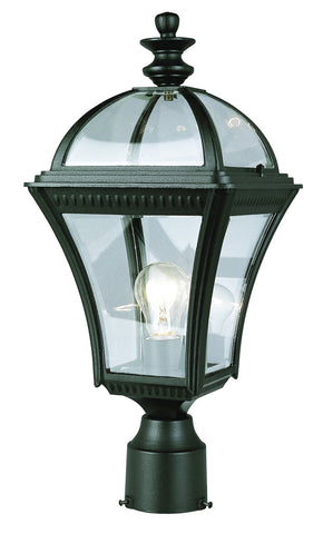 5085 BK Classic Braided 20 Inch Post Top Light In Black