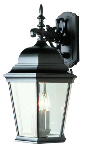 "51002 BK TGL 23"" Wall Lantern In Black"