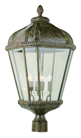 "5154 BRT Burnished Rust 26"" Post Top Lantern"
