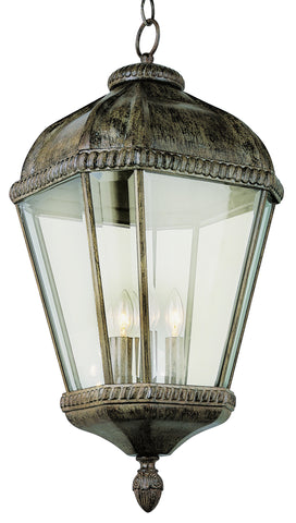 "5155 BRT Burnished Rust 22"" Hanging Lantern"
