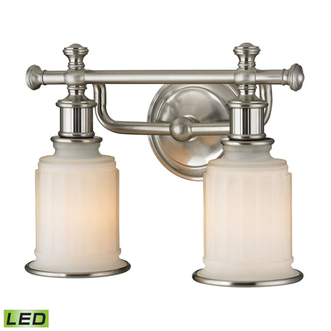 Acadia 2 Light LED Vanity In Brushed Nickel