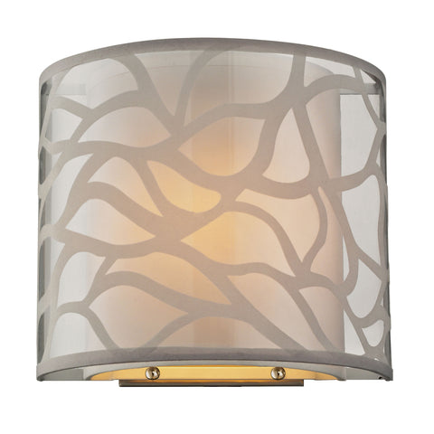 Autumn Breeze 1 Light Wall Sconce In Brushed Nickel