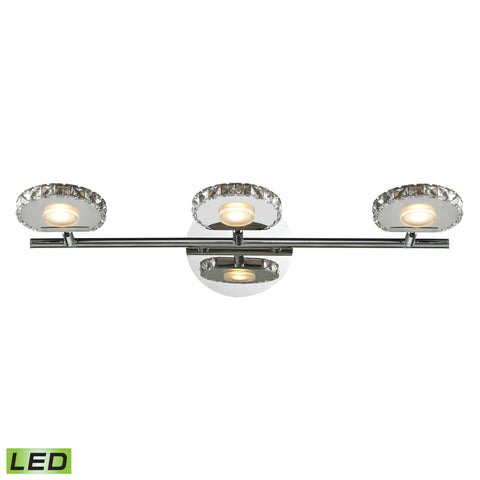 Spiva 3 Light Vanity In Polished Chrome With Crystal Banding