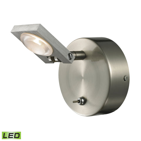 Reilly 1 Light Vanity In Brushed Nickel And Brushed Aluminum