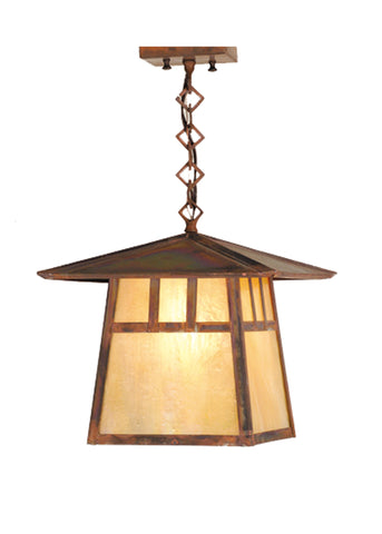 "12""Sq Stillwater Double Bar Mission Ceiling Pendant"