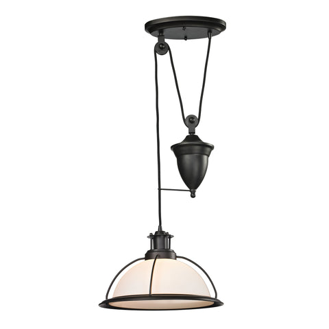 Wilmington 1 Light Pulldown Pendant In Oil Rubbed Bronze