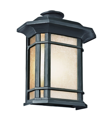 "5821-1 BK Corner Window 12"" Wall Light"