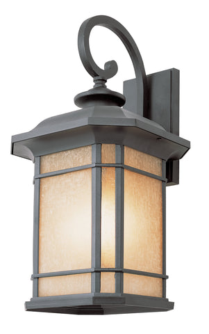 "5822 BK Corner Windows 20"" Wall Light Black"