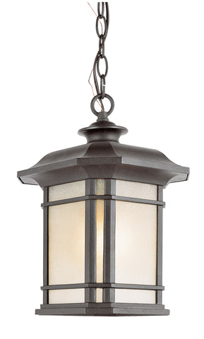 "5826 BK Corner Windows 18"" Outdoor Pendant Black"