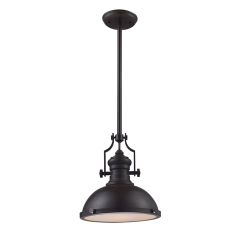 Chadwick 1 Light Pendant In Oiled Bronze