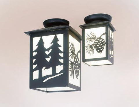 Steel Partners Ceiling Porch Light - TWIN TREE - Large