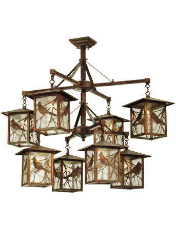 "42""W Seneca Song Bird 8 Lt Lantern Chandelier"