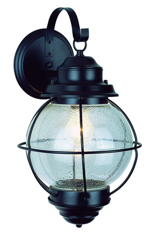 "69900 BK Onion Lantern Wall Light 13"" Black"