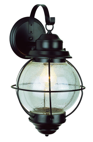 "69901 BK Onion Lantern Wall Light 15"" Black"
