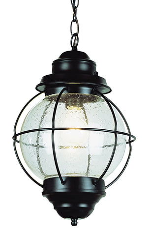 "69906 BK Hanging Onion Lantern 19"" Black"