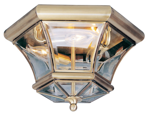 Monterey/Georgetown Ceiling Light Antique Brass
