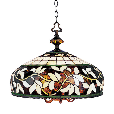 English Ivy 6 Light Chandelier In Tiffany Bronze