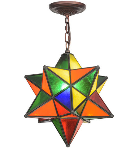 "Meyda Lighting 12""W Moravian Star Pendant 72849"