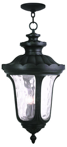 78703-04 Oxford Outdoor Chain Hang Lantern  Black