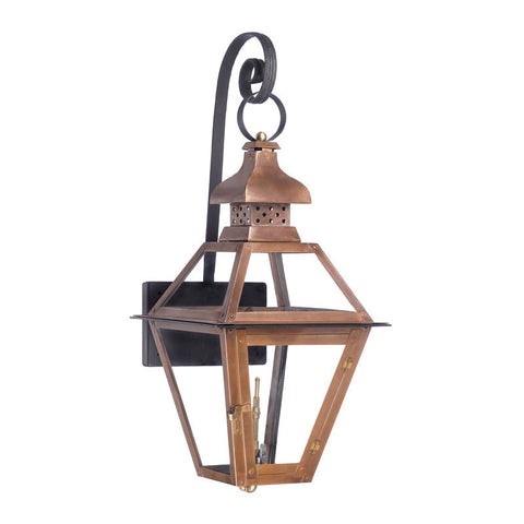 Artistic 7919-WP Outdoor Gas Shepherd's Scroll Lantern