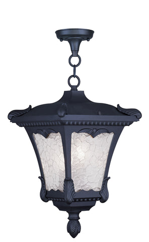 Millstone Outdoor Pendant Black