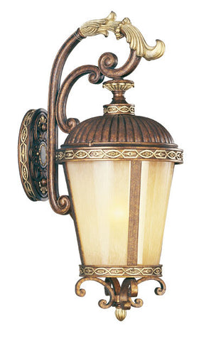 Seville Wall Light Palacial Bronze with Gilded Accents