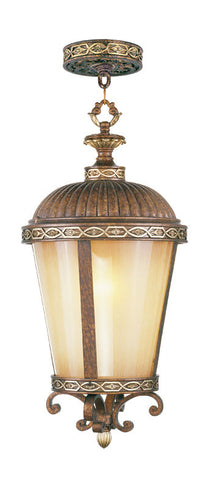 Seville Outdoor Pendant Palacial Bronze with Gilded Accents