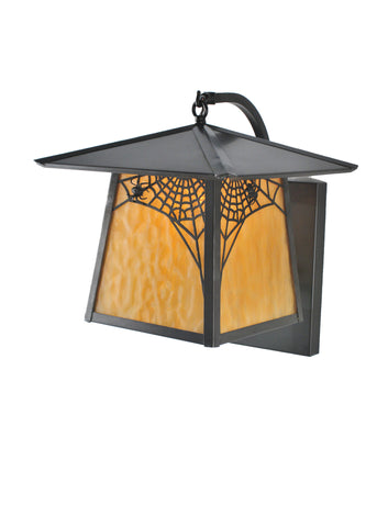 "12""W Stillwater Spider Web Curved Arm Wall Sconce"